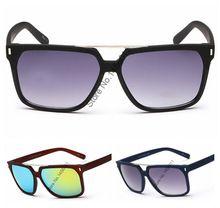Summer Style mode hommes femmes lunettes De soleil Cool grand cadre couleur Film anti - uv lunettes De soleil miroir Oculos De Sol Masculino 63015(China (Mainland))