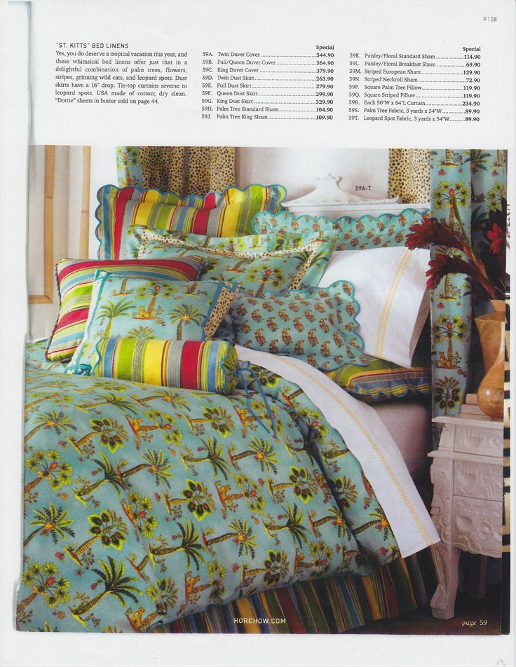 Bedding for Horchow