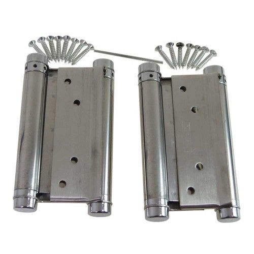 Stainless Steel Sprung Hinges Double Action Swing Doors 125mm 5.9""