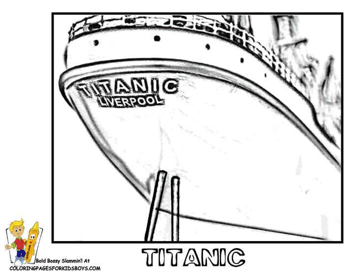 coloring page cruise ship titantic httpwwwyescoloringcom