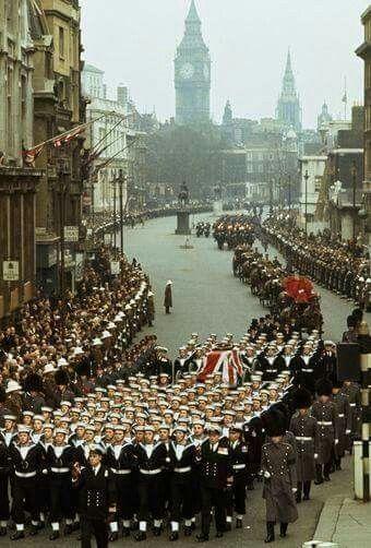 Sir Winston Churchills Funeral cortege January  1965