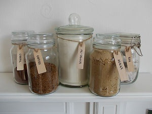 Abywillow Wooden Jar Labels Tags Tea Coffee Sugar Biscuits Kilner Storage Blackboard