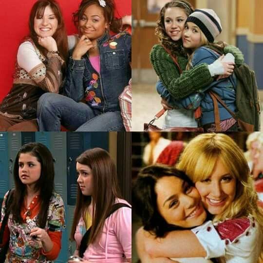 Raven Symoné e Anneliese Van Der Pol (2003), Miley Cyrus e Emily Osment (2006), Selena Gomez e Jennifer Stone (2006) Vanessa Hudgens e Ashley Tistale (2006).