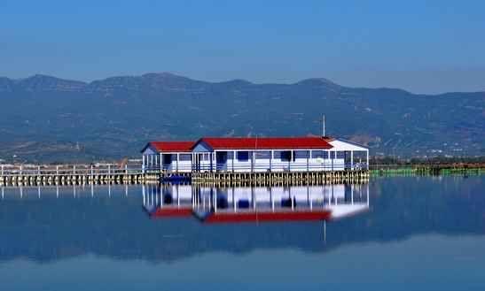Mirror-like reflections in Messolongi