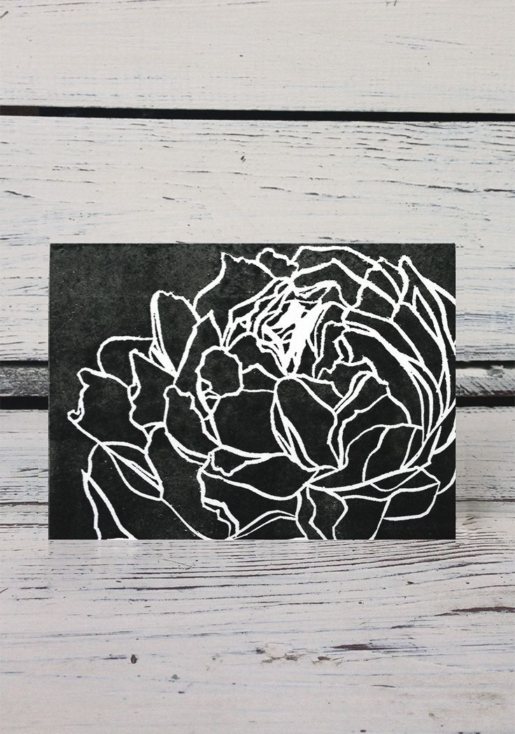16 best greeting cards images on pinterest small businesses set forth studio peony linocut print greeting card 6 this greeting card reheart Gallery