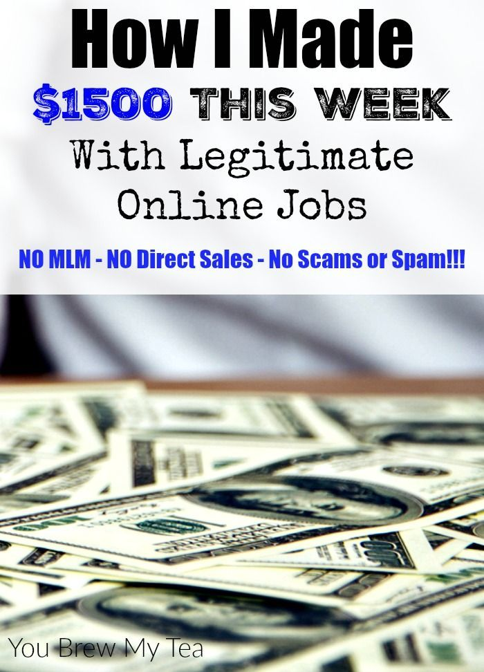 Legitimate online jobs are out there and this post details how I made over $1500 in ONE WEEK using legitimate online job opportunities!