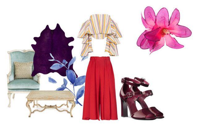 Untitled #180 by kstew90 on Polyvore featuring polyvore fashion style Caroline Constas Victoria Beckham Massoud John-Richard Barclay Butera clothing
