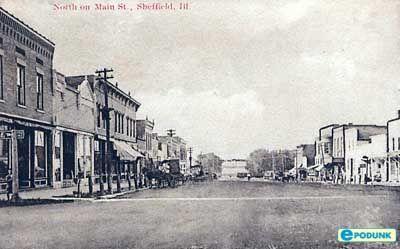 Main Street, Sheffield, IL