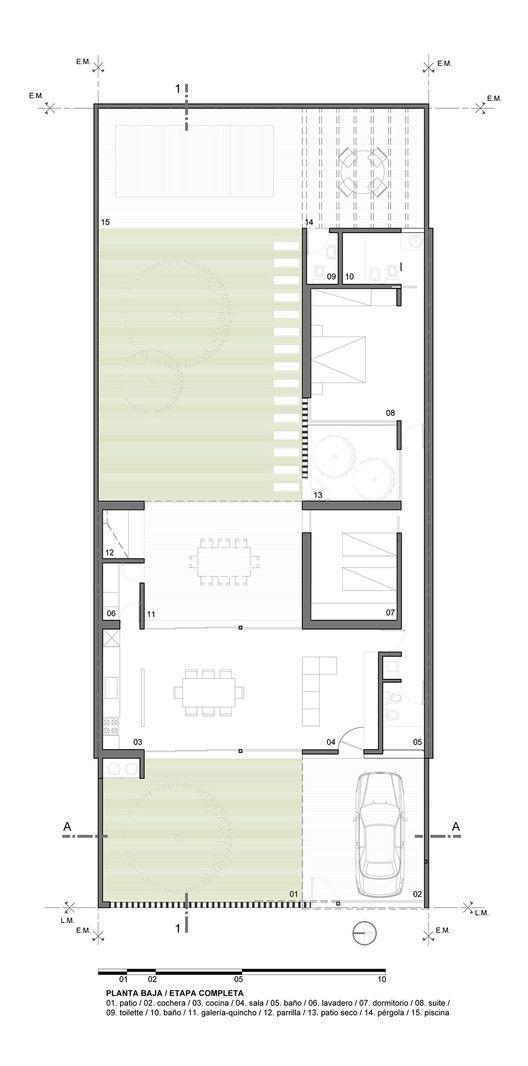 Casa Cozzi,Planta Baja