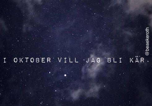 i oktober vill jag bli kär