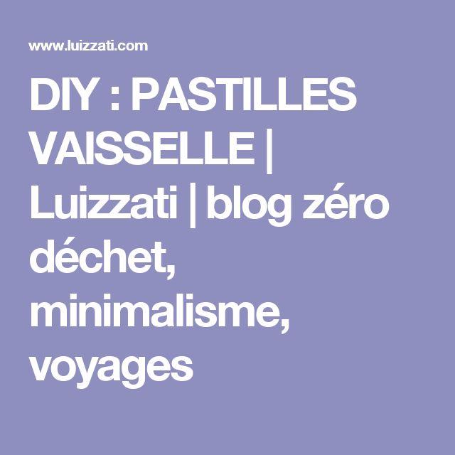 DIY : PASTILLES VAISSELLE | Luizzati | blog zéro déchet, minimalisme, voyages