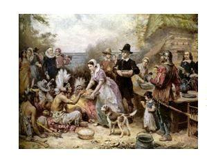 Den Díkůvzdání - roku 1621 slavili osadníci společně s Indiány svou první sklizeň. Indiánský kmen je naučil pěstovat nové plodiny, jako například kukuřici, a předal osadníkům své znalosti potřebné k přežití v neznámé zemi. První sklizeň se dodnes slaví vždy čtvrtý čtvrtek v listopadu. #thanksgiving #history #usa http://www.pokladnice-minci.cz/numismaticka-udalost-stoleti-se-blizi/