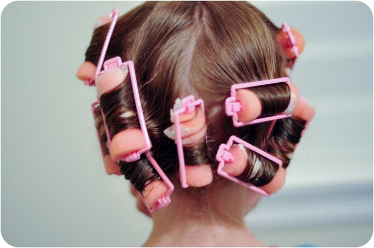 Pink foam curlers. I remember mom always put these in my hair for Sunday. They always made my hair so curly it looked short... Lol :)