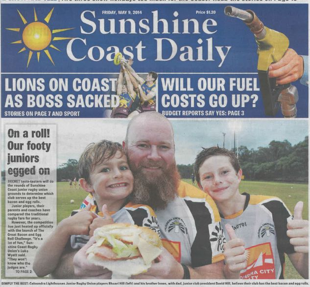 The Great Bacon & Egg Roll challenge on the front page of the Daily!
