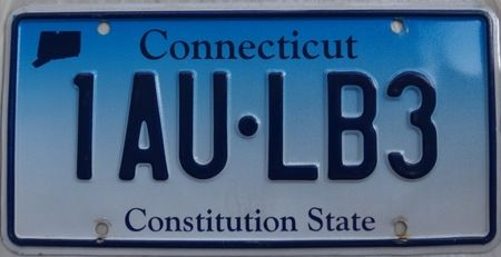 Connecticut car license plate