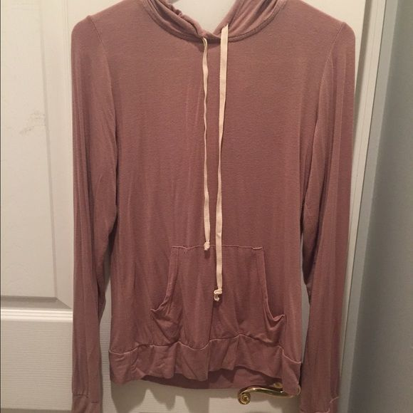 Brandy Melville Thin Hoodie fits like a woman's small, worn once. no tears or stains Brandy Melville Tops Sweatshirts & Hoodies