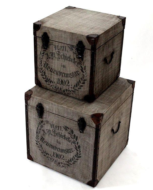 Set 2 Baules Antic Material: Madera Tropical ... Eur:329 / $437.57