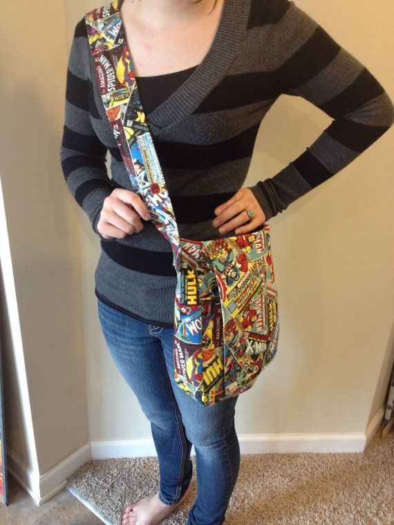 Marvel Avengers Comic Book Messenger Bag by InfinitySteam on Etsy, $25.00