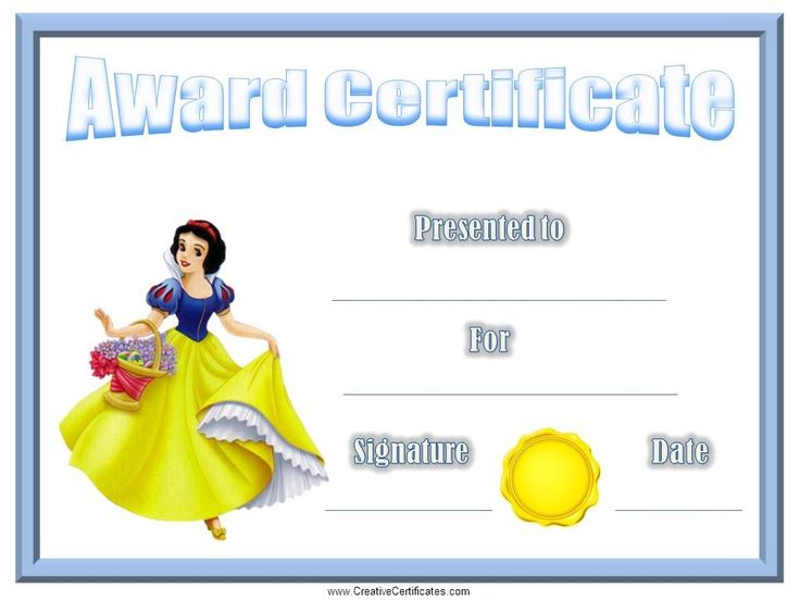 Best Certificados Images On   Award Certificates