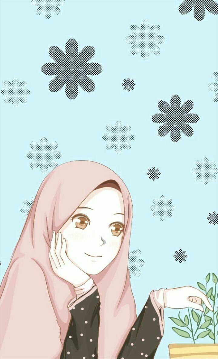 Muslim Wallpaper Kartun Ilustrasi Karakter Animasi