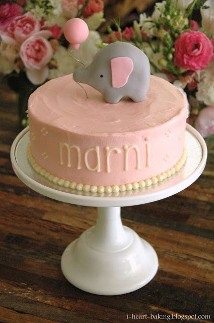 i heart baking!: elephant baby shower cake