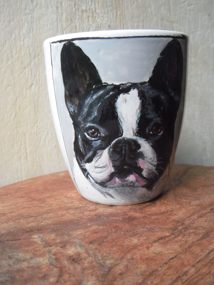French bulldog, hand painted on Mug
