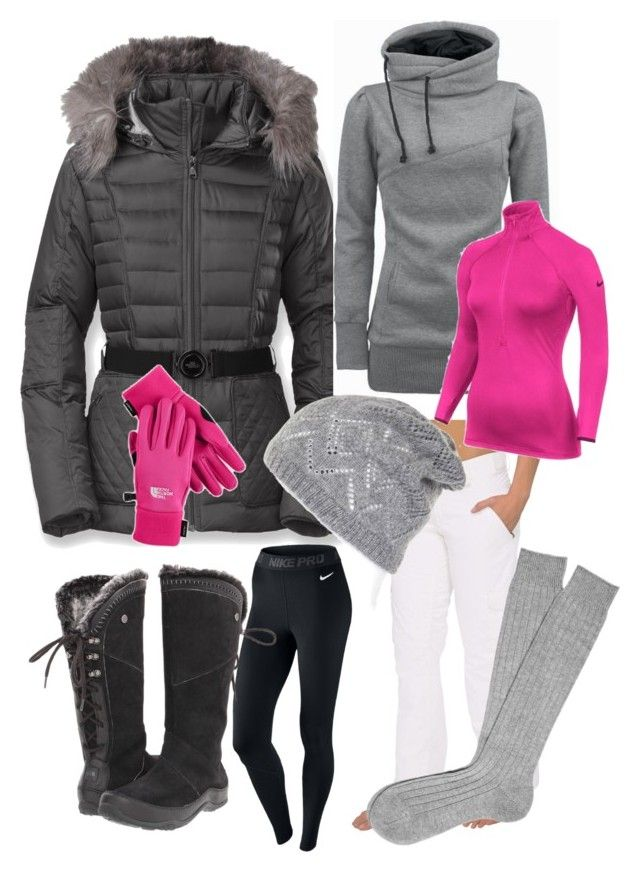 """""""Winter, I welcome you"""" by maria-f-engel on Polyvore featuring The North Face and NIKE"""