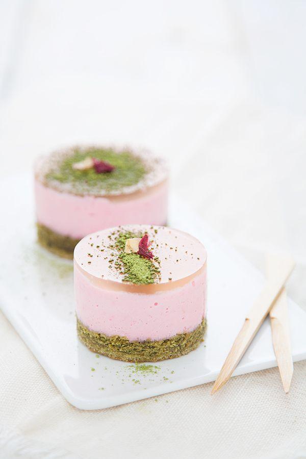 Petits gateaux thé vert /cerise