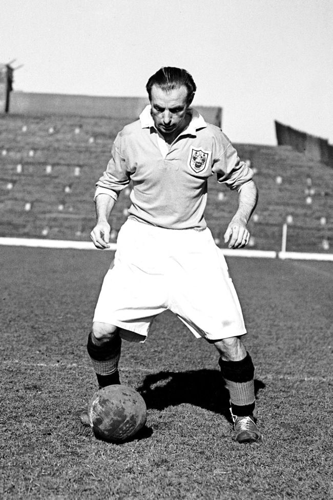 Winner of the first Ballon d'Or, Blackpool's Stanley Matthews.