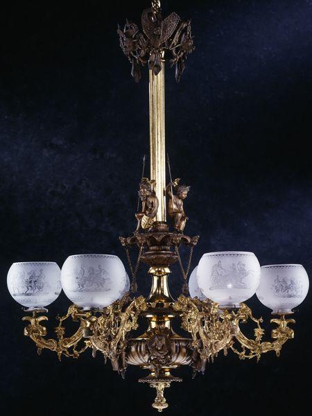 Decorative Accessories: Gasolier; 1860; Rococo Revival