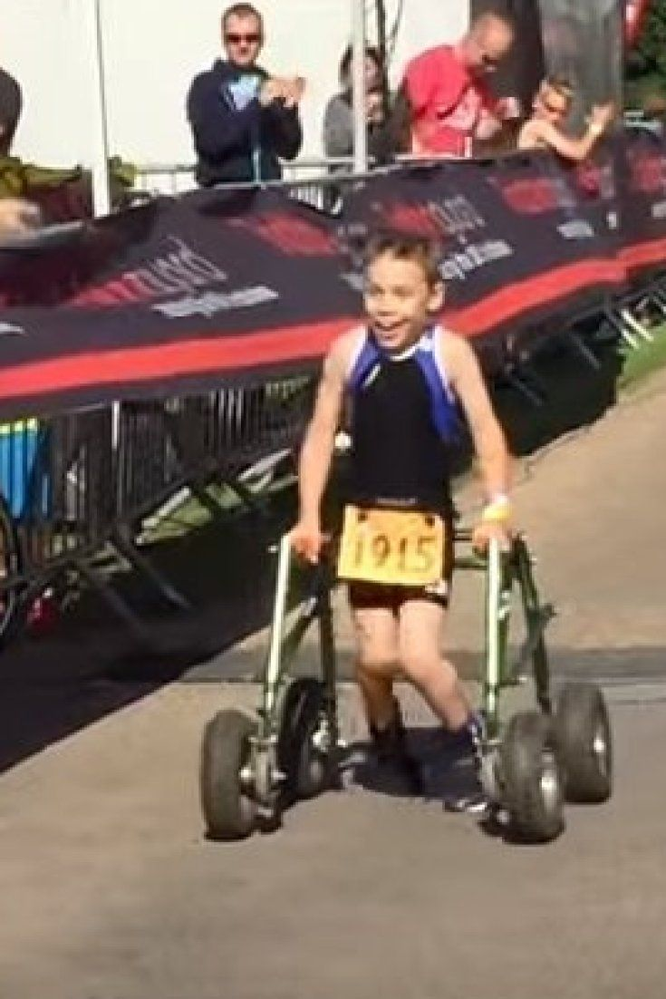 How A Young Triathlete With Cerebral Palsy Is Inspiring Kids With Disabilities
