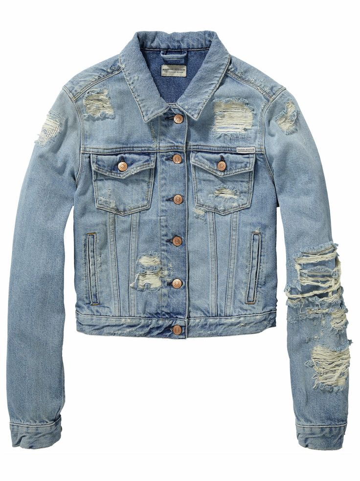 Denim Jacket - Rock 'n' Roll | Jackets | Woman Clothing at Scotch & Soda