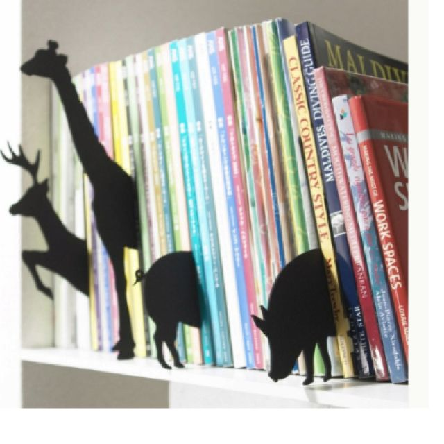Turn your bookcase into a Zoo! (Cardboard animal cutouts)
