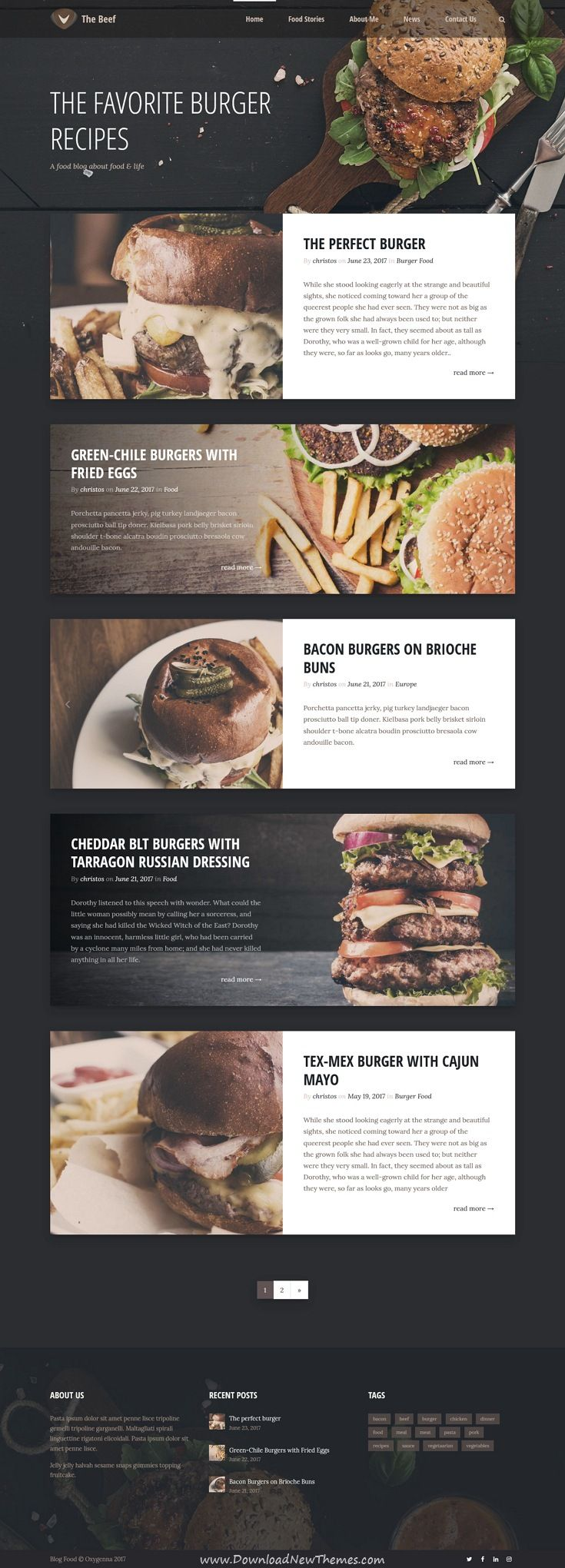Verso is clean and modern design multipurpose responsive WordPress theme for #food #recipes #blog and magazine website with 18+ niche homepage layouts download now..