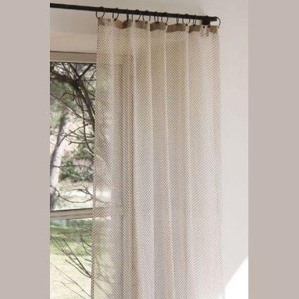 rideaux voilage mousseline pois en fil d 39 indienne rideaux voilages voilages et mousseline. Black Bedroom Furniture Sets. Home Design Ideas
