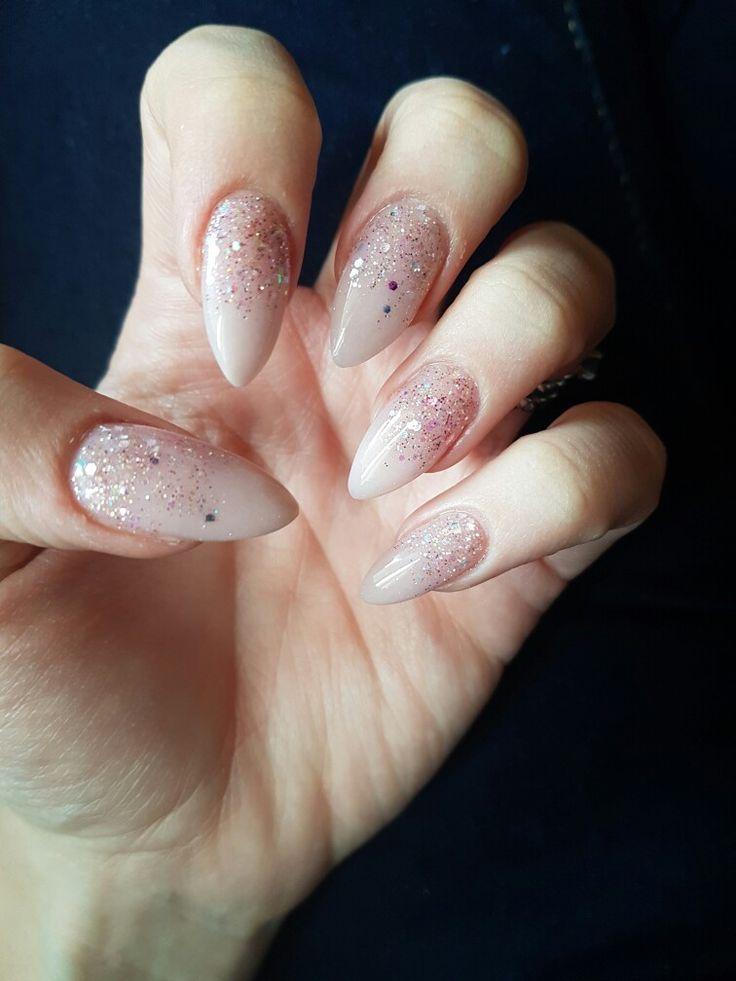 #nude #rose #glitter #stilettonails #truelove
