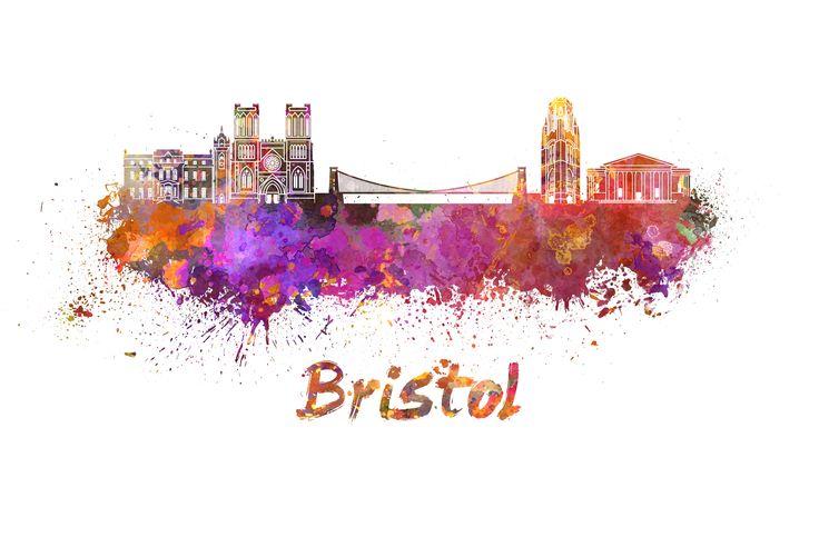 Bristol Skyline In Watercolor