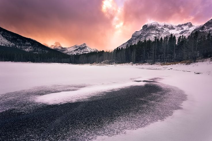 Winter Wedge Pond (Kananaskis Country, Alberta) by Chris Greenwood on 500px