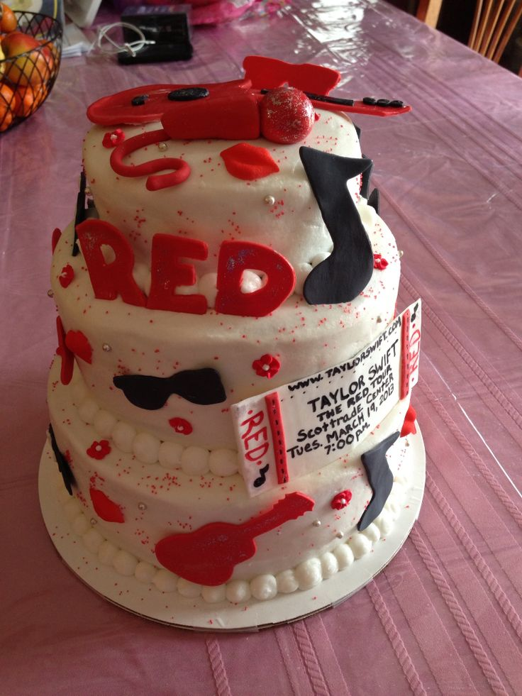Taylor Swift Red Concert cake. Shelby, do you want to make this for us?