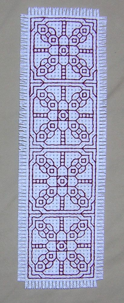 -Image detail for -by zabez in blackwork tags web pattern- I did it in overdyed thread