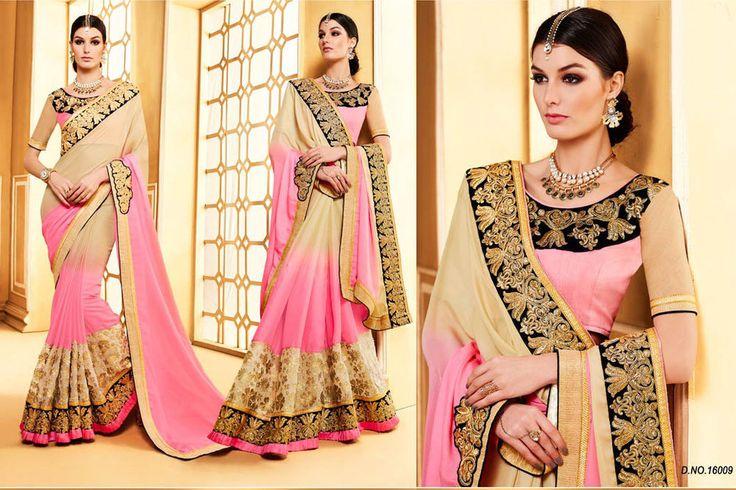 Indian Bollywood Saree Wedding Party Wear Unstiched Blouse Fabric Pakistani Sari #Shoppingover #SariSaree