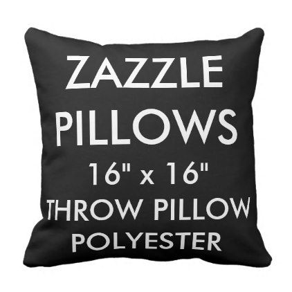 Zazzle Custom BLACK Polyester Throw Pillow Blank - black gifts unique cool diy customize personalize