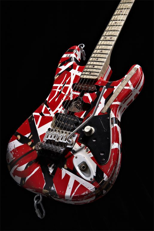 Eddie Van Halen's iconic '5150' guitar, decorated with Krylon paints.