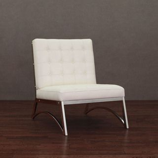 @Overstock.com.com   Madrid Modern White Leather Chair   Enhance Your Home