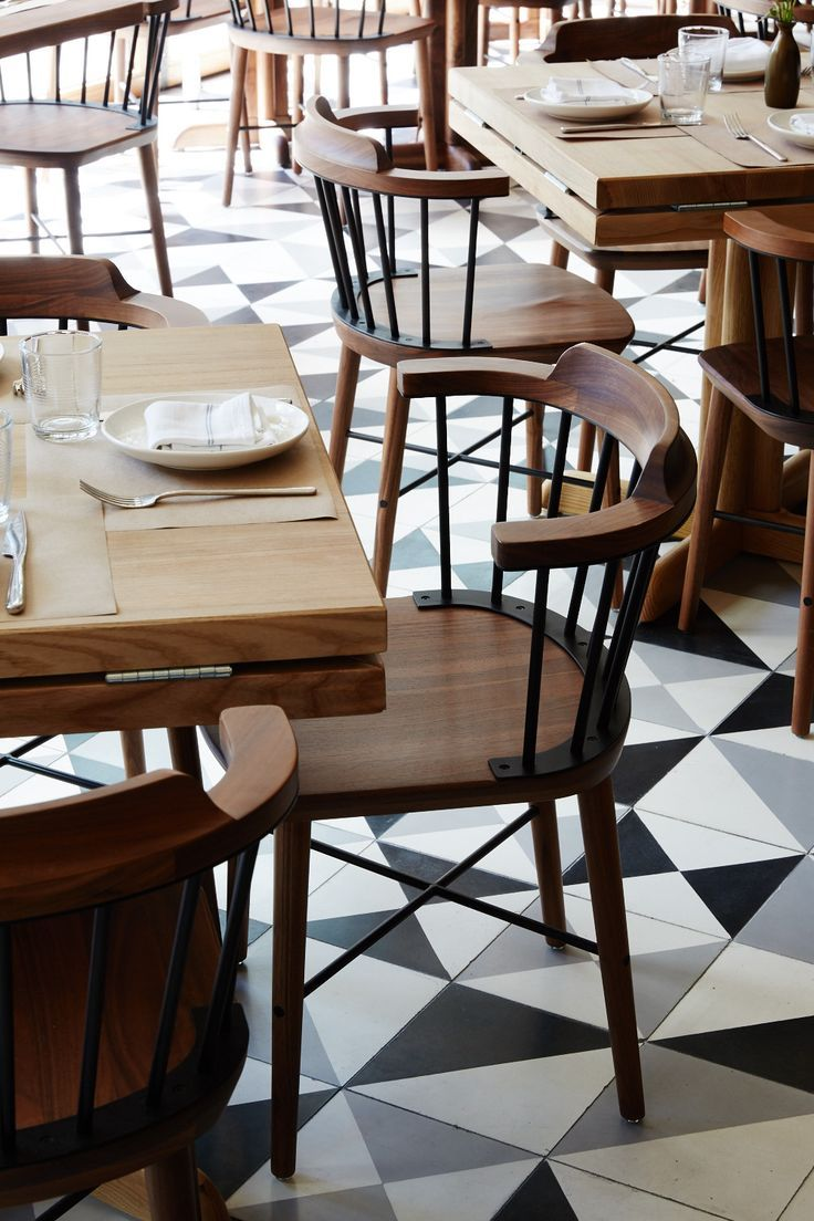 Modern cafe chairs and tables - Exchange Chair By Creme At L Amico Restaurant