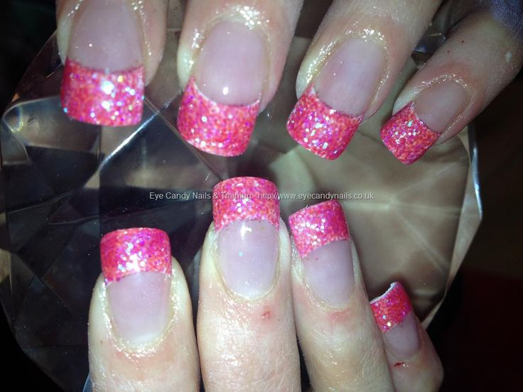 fake nails at walmart | Glitter French Tip Acrylic Nails – Nails Style Photo Gallery