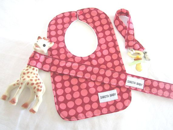 73 best baby cloths images on pinterest baby girls babys and raspberry dots baby gift set with pacifier clip by saritababy 3000 negle Images