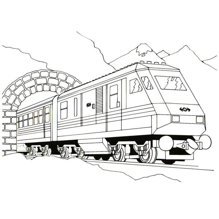 kleurplaten lego city trein