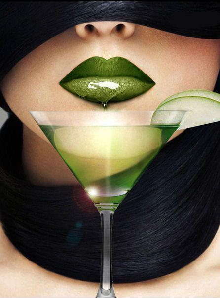 green martini #lips #labios