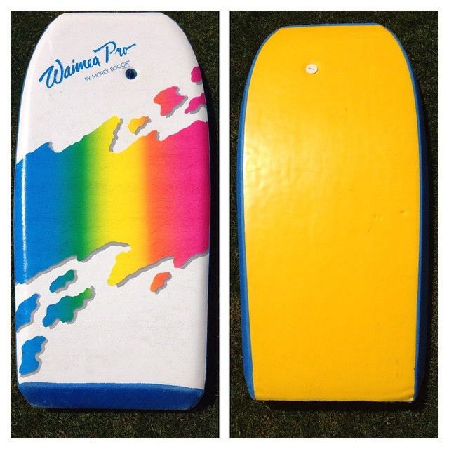 It's that time of the week again, Throwback Thursday! Today we have a Morey Boogie Waimea Pro from around 1987. #tbt #throwbackthursday #lookatthosecolours #moreyboogie #vintagebodyboard #bodyboard #bodyboarding #classicbodyboards #oldschoolclassic